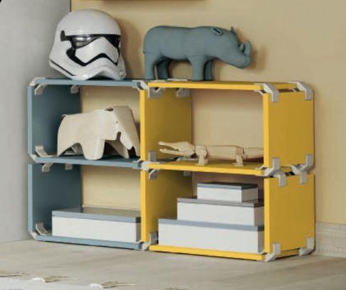 Libreria  Cubo modulare in 17 colorazioni