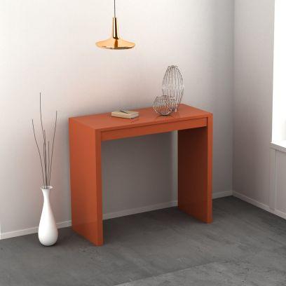 Consolle Demetra allungabile colore arancio chiaro laccato lucido o opaco 3 mt