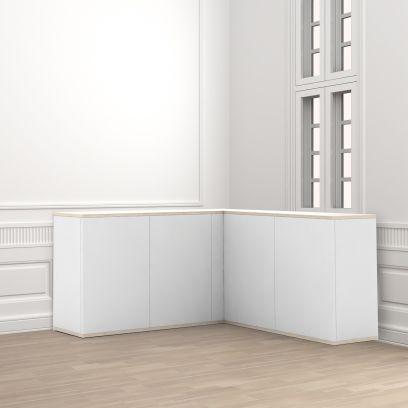Madia ad angolo moderna 135x123 cm