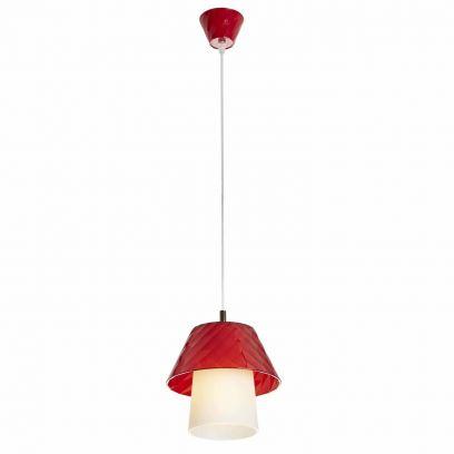 Lampada a sospensione Trilly 1 luce in Rosso di Emporium