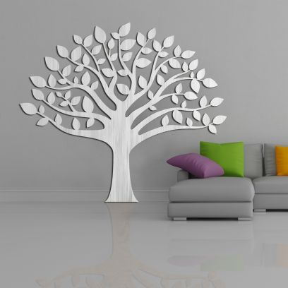 Decorazione in legno albero della vita, legno sbiancato