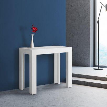 Tavolo Consolle Allungabile First Bianco Frassino 3 metri