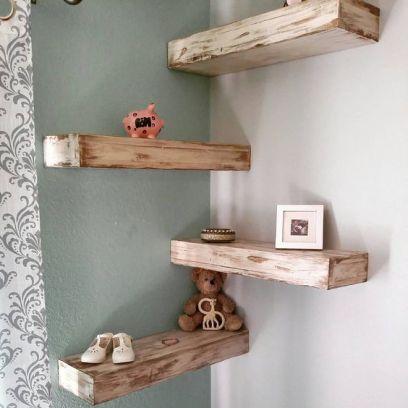 Mensola in legno massello 50 cm