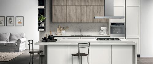Cucina Moderna Milano con isola personalizzabile