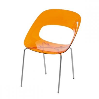 Sedia Camilla in finitura Arancione