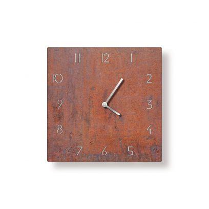 Orologio in ferro quadrato traforato finitura corten