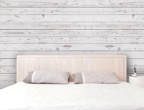Carta da parati effetto legno bianco rustico