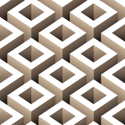 Carta da parati effetto 3D geometrico