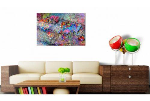 Quadro su vetro acrilico Abstract Color Map 2