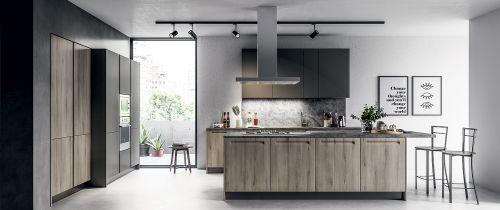 Cucina Moderna Motus con isola personalizzabile