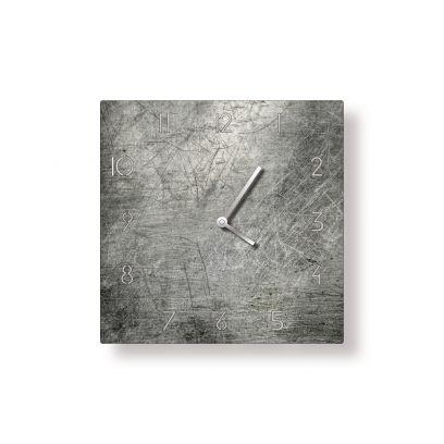 Orologio in ferro quadrato traforato finitura metallo