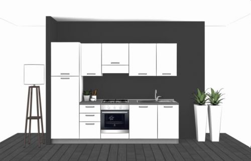 Cucina Lineare L.270xH.204 in vari colori