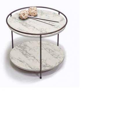 Tavolino Hole linea Contact finitura Carrara