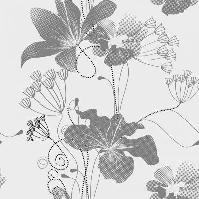 Carta da parati floreale monocolore