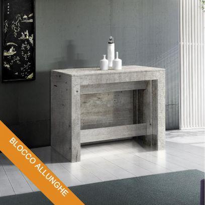 Consolle Inside 3 mt con Allunghe incorporate Cemento