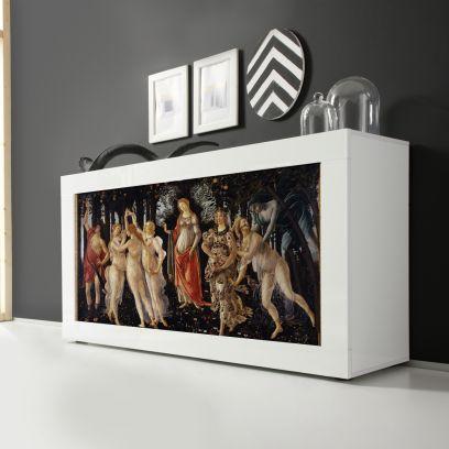 Madia Botticelli Linea Fancy finitura Bianco lucido con Serigrafia