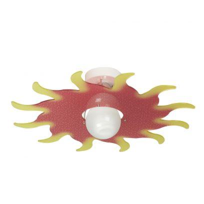 Plafoniera Sol  in Rosso di Emporium