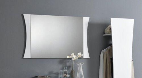 Specchiera linea Arco in Bianco Lucido