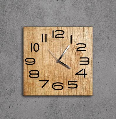 Orologio Aicon legno naturale e numeri neri