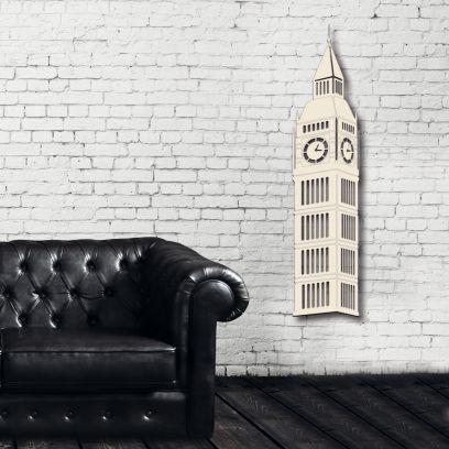 Londra Big ben - legno bianco avorio