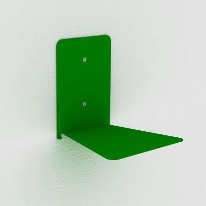 Reggilibri invisibile verde, mensola invisibile design per libri sospesi