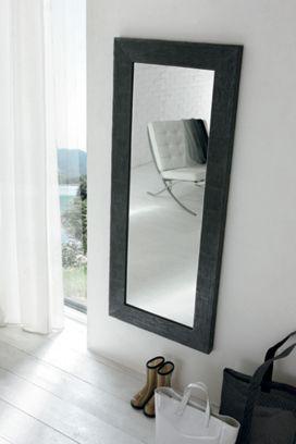Specchiera Ruck in finitura Nero 80 x 160