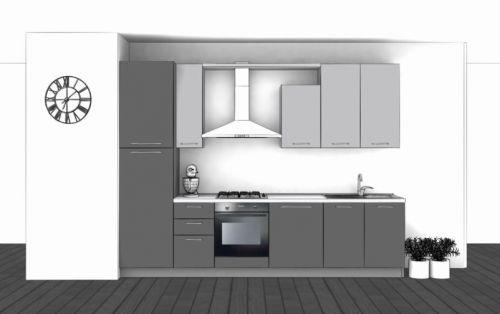 Cucina Lineare L.315xH.228 in vari colori