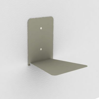 Reggilibri invisibile tortora, mensola invisibile design per libri sospesi