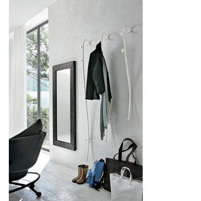 Appendiabiti Modigliani in finitura Bianco spazzolato Oro