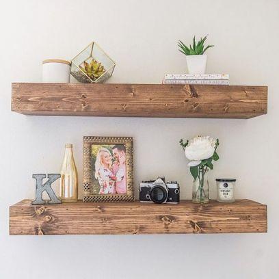 Mensola in legno massello 60 cm