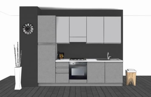 Cucina Lineare L.285xH.228 in vari colori