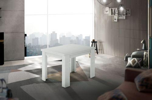 Tavolo raddoppiabile a libro 90x90 finitura Larice Bianco