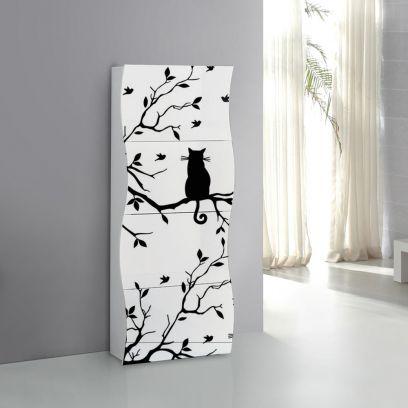 Scarpiera linea Mia 4 ante con serigrafia gatto