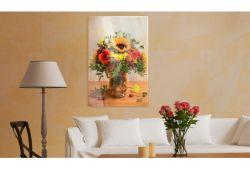 Quadro su vetro acrilico Yellow Sunflower