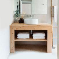 Mobile bagno in legno massello 120x75 cm