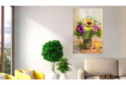 Quadro su vetro acrilico Fuchsia Sunflower