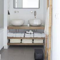 3 Mensole bagno in legno massello 140 x 45 cm