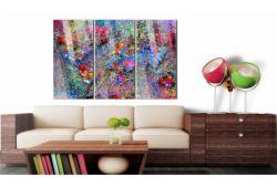 Quadro su vetro acrilico Abstract Color Map