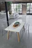 Tavolo allungabile Marte in finitura Bianco con struttura in legno L 160