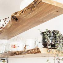 Mensola in legno massello 140 cm