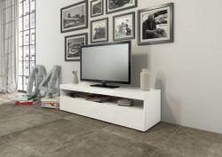 Porta TV Serena linea Filo in Bianco