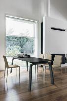 Tavolo allungabile Deimos in finitura Grafite con struttura in metallo L 160