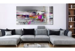 Quadro su vetro acrilico Rose Abstrait
