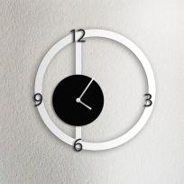Orologio da parete HALO, bianco e nero