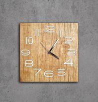 Orologio Aicon legno naturale e numeri bianchi