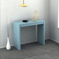 Consolle Sya allungabile colore Celeste laccato lucido o opaco 3 mt