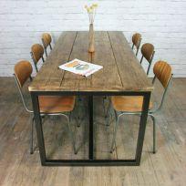 tavolo Martin in legno massello 160x80x78 cm