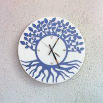 Orologio da parete albero della vita - Bianco / azzurro