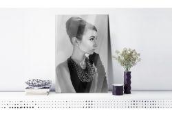Quadro su vetro acrilico Tiffany Black&White