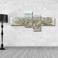 Quadro multiplo OLD MAP 170x70 cm